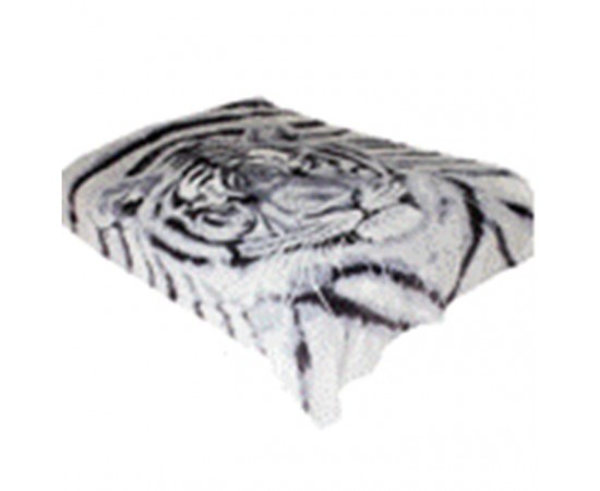 ZA MF a227GY 3D Морда тигра 150х200 микрофибра плед Absolute