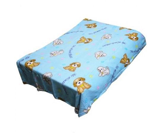 TCH MF a157 Новые собачки голуб. 110х140 микрофибра плед-одеяло дет.Amore Mia