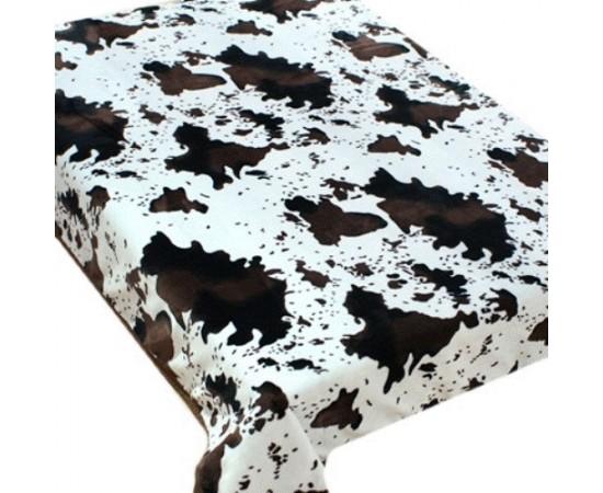 ZA MF 106 Шкура коровы черно-белая 180х230 микрофибра плед Absolute
