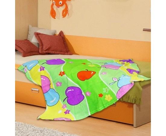 TCH MF a153 Яблочки 110х140 микрофибра плед-одеяло дет.Amore Mia