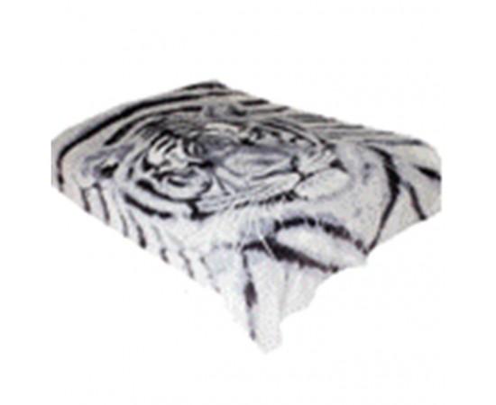ZA MF a227GY Морда тигра 180х230 микрофибра плед Absolute