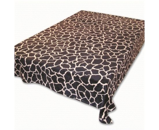 ZA MF a120 Шкура жирафа темная 180х230 микрофибра плед Absolute