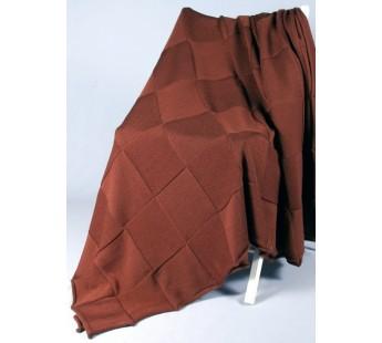 Плед вязаный Квадрат (т. коричневый) 150x200 Вальтери Шерсть