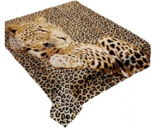 ZA MF a411 Леопард на шкуре 200х240 микрофибра плед Absolute