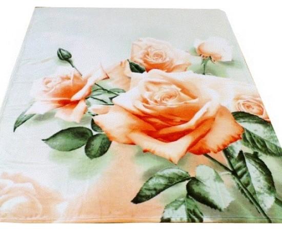 ZA MF a225GR 3D Розы 150х200 микрофибра плед Absolute