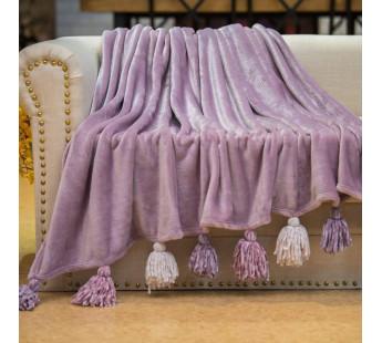 Плед 220х240 велсофт TESS фиолет
