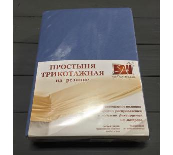 ПТР-ГЕЛЬ-180(180) Голубая Ель простыня трикотажная на резинке 180х200х20
