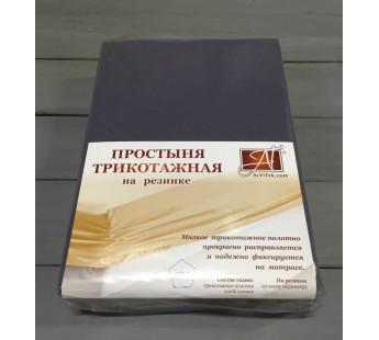 ПТР-ГРА-160 Графит простыня трикотажная на резинке 160х200х20