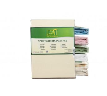 ПР-СО-260-КРЕМ Кремовая Простынь ткань Сатин однотонный 220х260