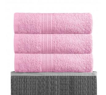 Розовая 180х210 Простыня Махровая BAYRAMALY