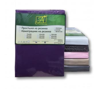ПР-СО-Р-090-ФУК Фуксия простыня Сатин однотонный на резинке 90х200х25