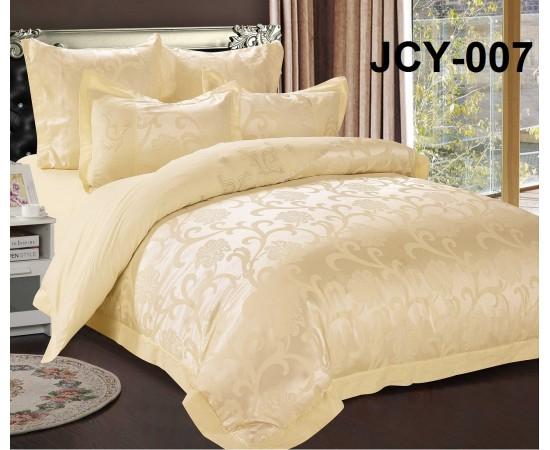 Комплект постельного белья JCY-007 евро сатин-жаккард с вышивкой Retrouyt