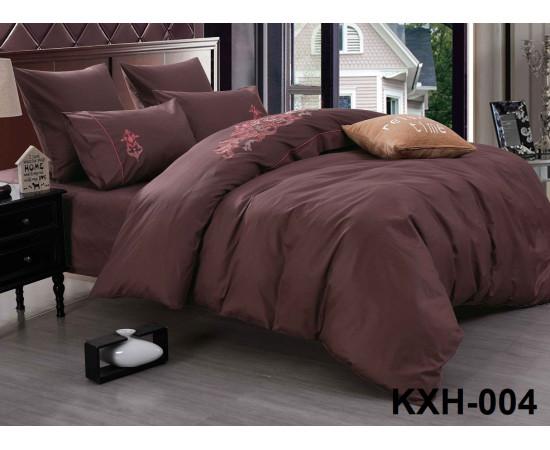 LOFT-04 однотонный семейный комплект постельного белья сатин люкс с вышивкой Retrouyt