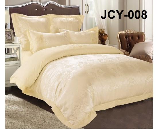 Комплект постельного белья JCY-008 евро сатин-жаккард с вышивкой Retrouyt