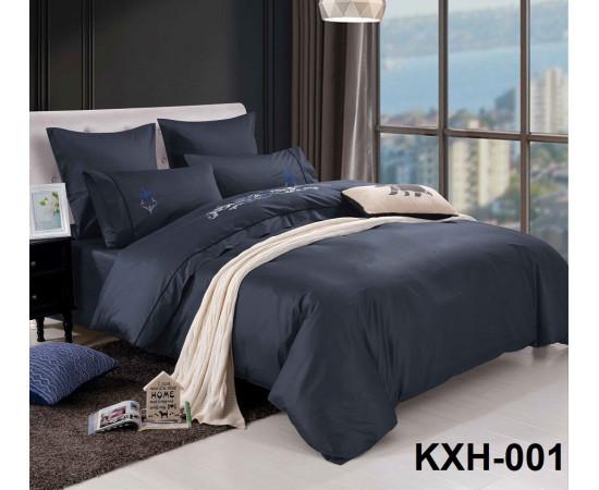 LOFT-01 однотонный семейный комплект постельного белья сатин люкс с вышивкой Retrouyt