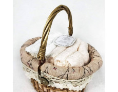 Набор полотенец подарочный Виола (персик)