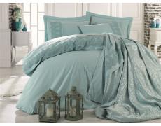 Набор для спальни КПБ с покрывалом DANTELA VITA евро мятный