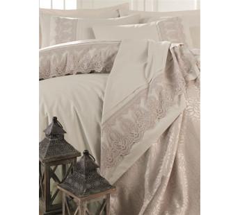 Набор для спальни КПБ с покрывалом DANTELA VITA евро беж